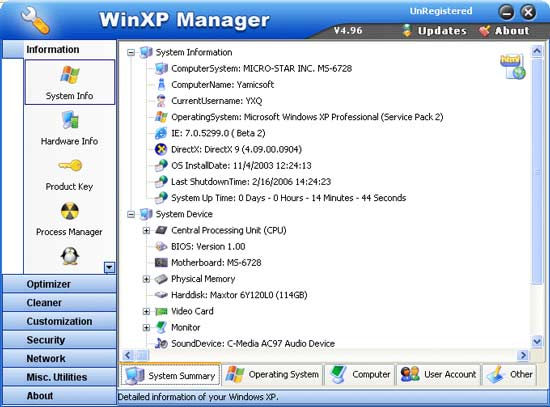 WinXP  manager 5.02